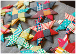 scandinavian fabric stars handicraft embroidery and fabrics