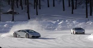 Lamborghini Aventador Drift - winter can u0027t get any better than lamborghini snow drifting