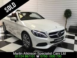 used mercedes convertible used mercedes benz c class c200 sport 2 0 9g tronic automatic for