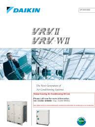 daikin brochure vrv ii air conditioning air conditioning heat pump