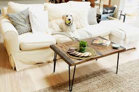 reclaimed coffee table with inlaid metal wood rustic