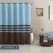 Chocolate Brown And Blue Curtains Brown Blue Shower Curtain Part 40 Fabric Beach Shower Curtains