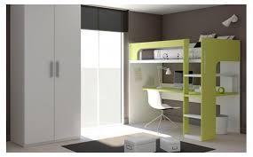 lit superposé bureau chambre complète pour enfant et meubles ros