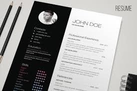 Free Resume Template Indesign B U0026w Resume Resume Templates Creative Market
