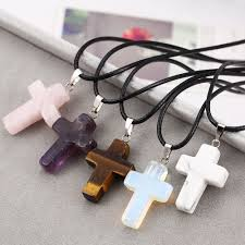 cross stone necklace images Natural stone cross pendant and necklace my feng shui store jpg