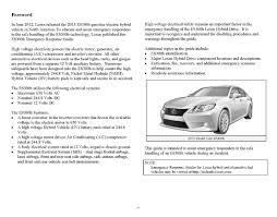 lexus es300h usa 2013 es300h emergency response guide