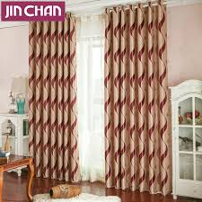 Window Curtains And Drapes Decorating Modern Luxury Stripe Suede Blackout Window Curtains Drapes Shades