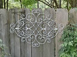 rod iron wall art home decor white outdoor metal wall art sorrentos bistro home