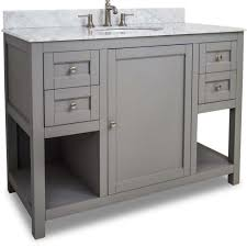 large bathroom vanity single sink this 48 inch grey finish single sink bathroom vanity carrera marble