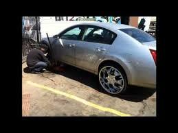 Used 24 Inch Rims Chi Town Customs Rim King 2010 Nissan Maxima 24 Inch Rims W Youtube