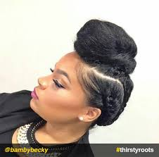images of black braided bunstyle with bangs in back hairstyle 13 natural hair updo hairstyles you can create