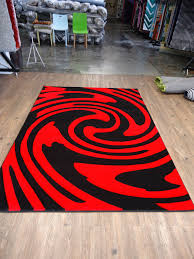Red Area Rug by Modren Black And Red Area Rugs Rug Modern Contemporary Carpet A