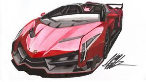 car lamborghini drawing realistic car drawing lamborghini veneno roadster time lapse