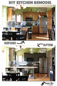 Diy Cabinet Makeover With Glaze by Kitchen Cabinet Reveal Thanks Rustoleum Sugar Bee Crafts