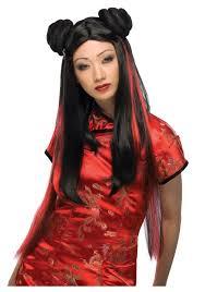 Oriental Halloween Costumes Ms Chow Geisha Wig