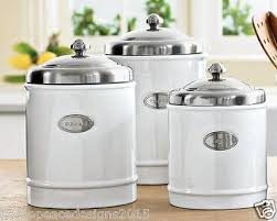 kitchen counter canister sets williams sonoma ceramic kitchen counter canisters set of 3 white