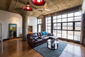 first floor midtown canfield loft asks 323 5k curbed detroit the living space is open and the one bedroom has a walk in closet it s listed through o connor real estate