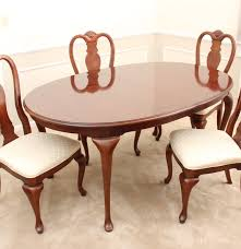 elegant bernhardt dining room table and chairs ebth
