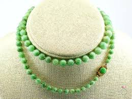jade bead necklace images Natural green jade graduated bead necklace 25 inchesclasp sbej jpg