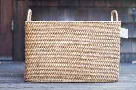 Diy Modern Tartan Blanket Basket With West Elm This Little