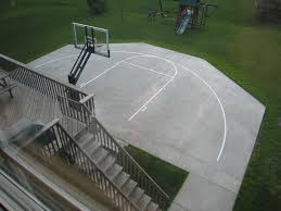 efficient use of concrete 276 source basketball court in house