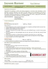 Driver Resume Sample by Taxi Driver Resume Examples 2017 U2022