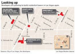 Map Of Las Vegas Hotels On The Strip by 4 Towering Apartment Projects Planned For Las Vegas U2013 Las Vegas