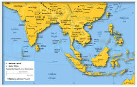 Central America Map And Capitals by Map Of Asia With Countries And Capitals Brilliant A Map Asia