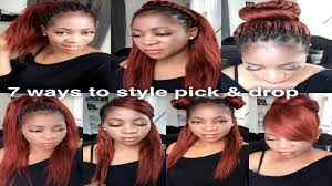 hair extensions for braiding pick and drop braiding n styling pick drop youtube