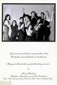 kardashian family christmas cards u2014 see cards u2013 hollywood life