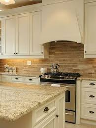 brown travertine mix kitchen backsplash tile from backsplash
