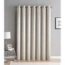 Extra Wide Thermal Curtains Amazon Com Room Darkening Patio Door Curtain Energy Smart