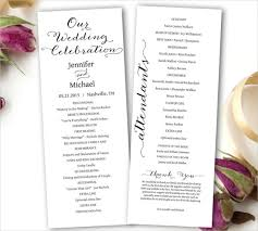wedding program templates wedding ceremony program template 31 word pdf psd indesign