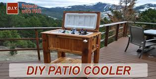 How To Build A Round Wooden Picnic Table by How To Make A Patio Cooler Ice Chest Youtube