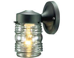 jelly jar light fixture menards jelly jar 1 light 7 5 black outdoor wall light cheap