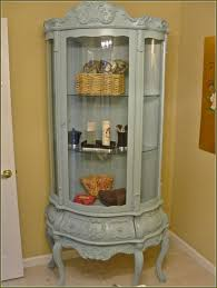 Corner Cabinet With Glass Doors Furniture Interesting Curio Cabinets With Glass Door And Simple