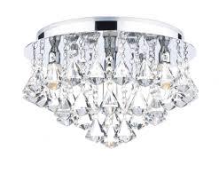 Crystal Bathroom Light Fixtures by Dar Fri0450 Fringe Ip44 Crystal Bathroom Flush Ceiling Light From