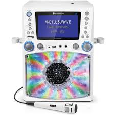 singing machine with disco lights singing machine bluetooth karaoke system monitor plays cd disco