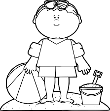 summer boy beach coloring page wecoloringpage