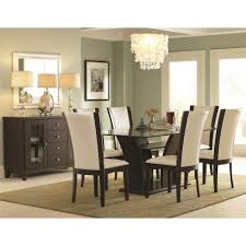 glass top dining room tables rectangular trent home daisy