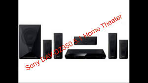 complete home theater systems sony dav dz350 5 1 home theater complete review youtube