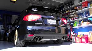 subaru exhaust system cobb turbo back exhaust on 2008 subaru wrx sti sound clip youtube