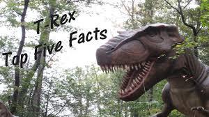 t rex tyrannosaurus rex top five facts