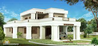 contemporary 2 story house plans kerala home design and style