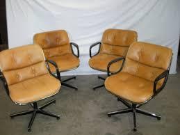 fauteuil de bureau knoll superbe suite de 4 fauteuils de charles pollock edition knoll