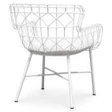 Modern White Arm Chairs Chloe Modern Classic Salt White Steel Outdoor Arm Chair Kathy