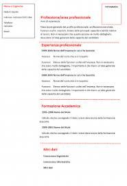 curriculum vitae formato pdf da compilare curriculum vitae funzionale modello rosso 01 modello curriculum