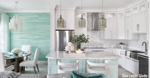blue kitchen cabinets grey walls 11 trending kitchen accent wall ideas tips photos