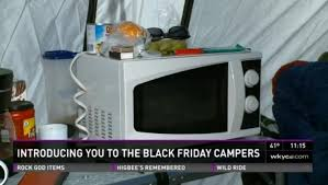 black friday microwave oven black friday bargain hunters line up 10 days early in ohio ny