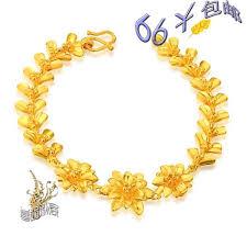 bracelet ladies gold images 2018 three flowers alluvial gold bracelet ladies gold plated jpg